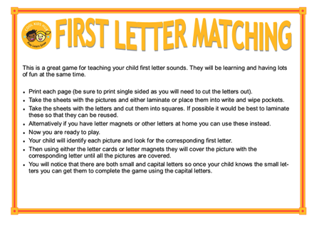 Matching First Letters