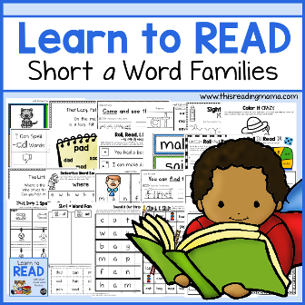 Learn to Read Short Word Families
