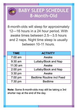 Sleep Schedule 8-Month-Old