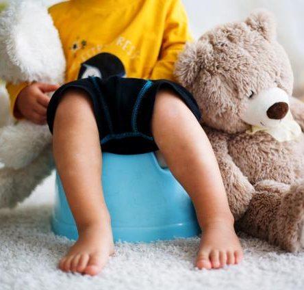 Boy On Potty with Teddy